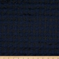 Fabric Merchants Lily Double Jacquard Knit Bubble Textured Black/Dark Navy