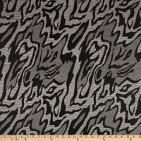 Fabric Merchants Lily Double Jacquard Knit Abstract Animal Black/Charcoal