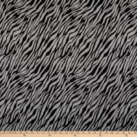 Fabric Merchants Lily Double Jacquard Knit Abstract Zebra Black/Grey