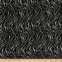 Fabric Merchants Lily Double Jacquard Knit Textured Exotic Animal Grey/Black