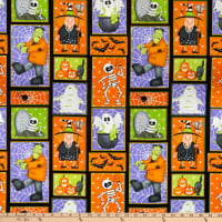 Henry Glass A Haunting We Will Glow Patchwork Motifs Multi