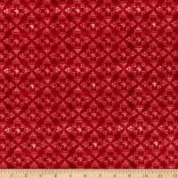 Henry Glass Live Free Damask Red