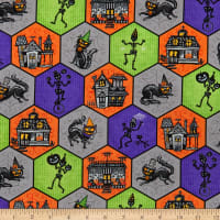 Henry Glass Metallic Spooky Town Halloween Honeycomb Multi