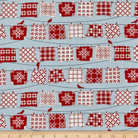 Henry Glass Holiday Heartland Hanging Quilts Gray/Red