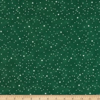 Henry Glass Holiday Heartland Snow Allover Green