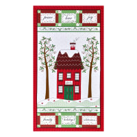 """Henry Glass Holly Hill Christmas 24"""" Panel Red"""