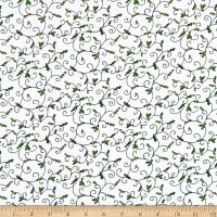Henry Glass Holly Hill Christmas Holly Swirls White
