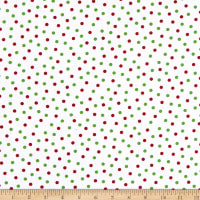 Henry Glass Holly Hill Christmas Dots White/Green