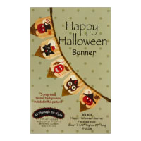 All Through The Night Happy Halloween Banner Pattern By Bonnie Sullivan