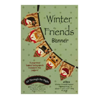 All Through The Night Winter Friends Banner Pattern By Bonnie Sullivan