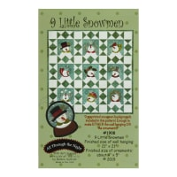 All Through The Night 9 Little Snowmen Pattern By Bonnie Sullivan