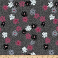 Stoffabric Denmark Marble Yard Digital Print Multi Flowers Grey