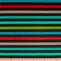 Fabric Merchants Polyester Chiffon Rainbow Stripe Multi