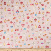 Kokka Water Color Sweets Sheeting Light Pink