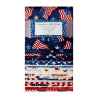 "Wilmington Crystals America, My Home 2 1/2"" strips 40 Pcs"