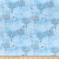 Wilmington Snow Valley Trees Medium Blue