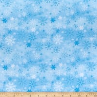 Wilmington Snow Valley Snowflakes Blue