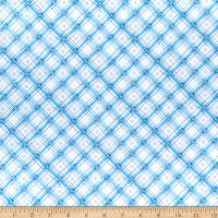 Wilmington Snow Valley Gingham Blue