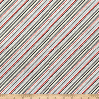 Wilmington Holiday In The Woods Diagonal Stripe Grey/Red