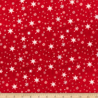 Wilmington Holiday In The Woods Snowflakes Red
