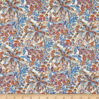 Liberty Fabrics Tana Lawn Faraway Palm Blue/Orange