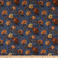 Liberty Fabrics Tana Lawn Decadent Blooms Blue/Peach