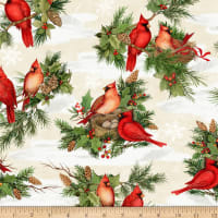 Wilmington Cardinal Noel Large Allover Cream