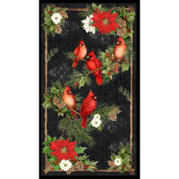 "Susan Winget Cardinal Noel Large 24"" Panel Multi"