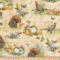 Wilmington Seeds of Gratitude Large Allover Tan
