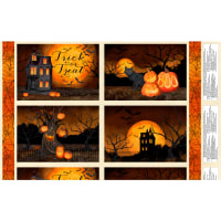 "Wilmington Haunted Night Placemat 24"" Panel Multi"
