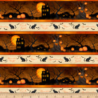 Wilmington Haunted Night Repeating Stripe Multi