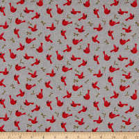 Wilmington Cozy Critters Cardinals Allover Gray