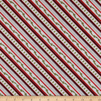 Wilmington Cozy Critters Ticking Stripe Red