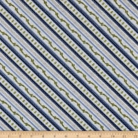 Wilmington Cozy Critters Ticking Stripe Blue
