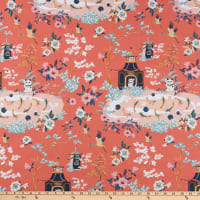Paintbrush Studio Imperial Garden Green/Pink/Coral