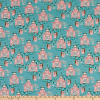 Paintbrush Studio Imperial Garden Shrines Gray Blue/Pink
