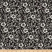 Splendid Apparel Rayon Crepe Multi Floral Black/White