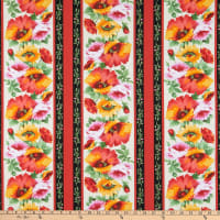 Michael Miller Fabrics Blooms of Beauty Poppy Lane Red
