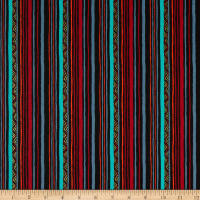 Michael Miller Fabrics Living in the Wild Nature Stripe Ebony