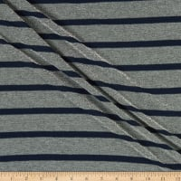 Splendid Apparel Rayon Spandex Stretch Jersey Knit Navy Stripe With Lurex