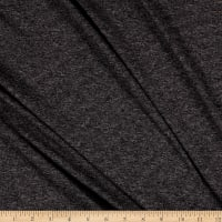 Splendid Apparel Rayon Spandex Jersey Knit Heathered Stripe Charcoal