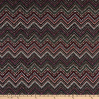 Fabric Merchants Retro Hacci Sweater Knit Geo Chevron Purple