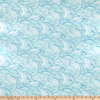 Northcott Arctic Wonders Waves Turquoise