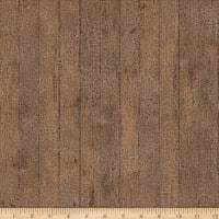 Northcott Joys of Spring Barnboard with Crackle Brown