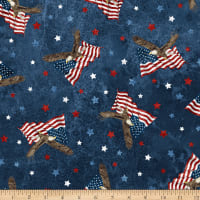 Northcott Stars and Stripes Soaring Eagles Navy Multi