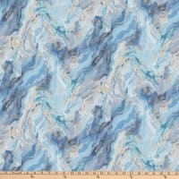 Northcott Swept Away Marble 3 Wide Back Blue