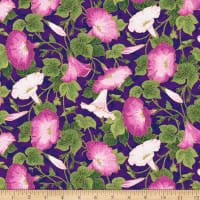 Northcott Shimmer Morning Glory Morning Glory Purple Multi