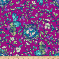 Northcott Stag and Thistle Songstress Fuchsia Multi