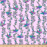 Northcott Stag and Thistle All A Flutter Lilac Multi