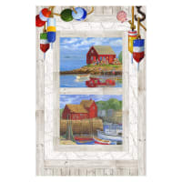 Northcott Catch of the Day Digital Panel White Multi
